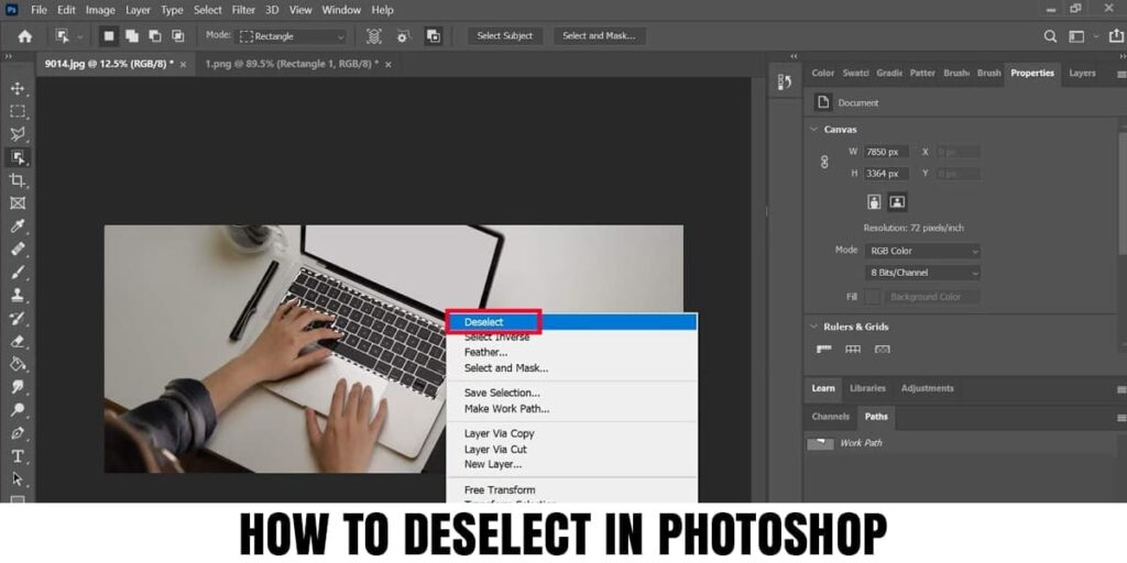 How to Deselect In Photoshop (Tips & Tricks)