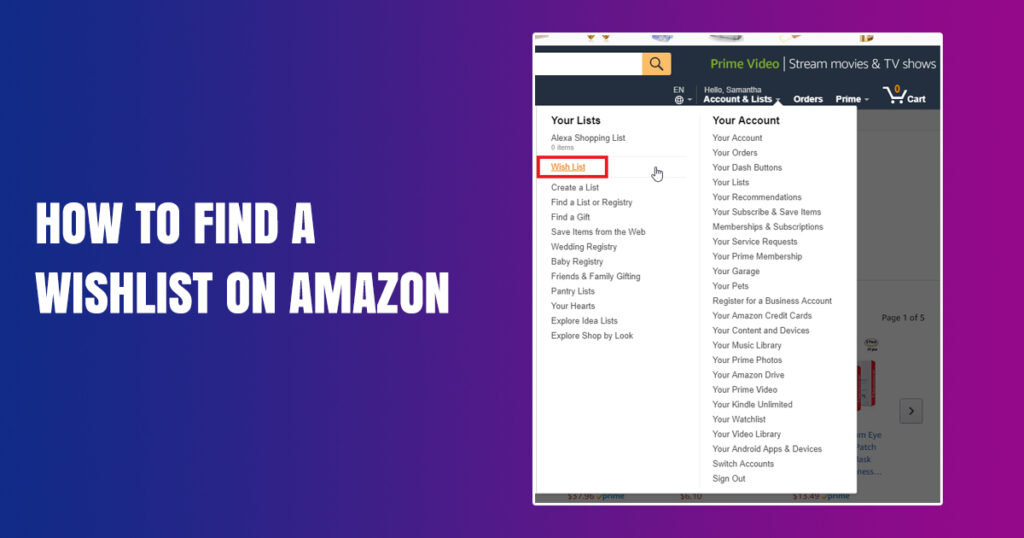 The Ultimate Secret Of How To Find a Wishlist On Amazon