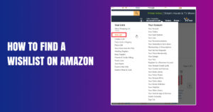 how to find a wishlist on Amazon